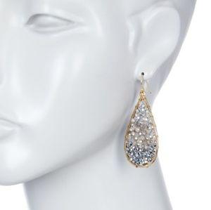 Panacea Gold Crystal Ombre Teardrop Earr